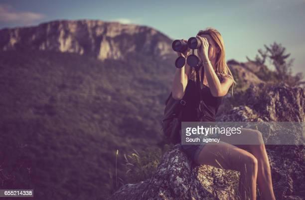Exploring nature with binoculars