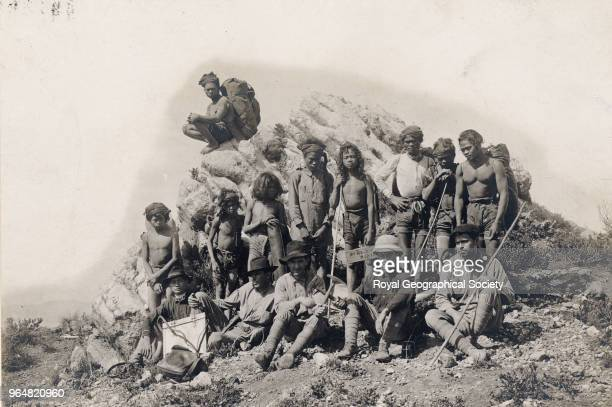 Exploring party from the Division of Mines on summit of Mount Apo Philippines 1911