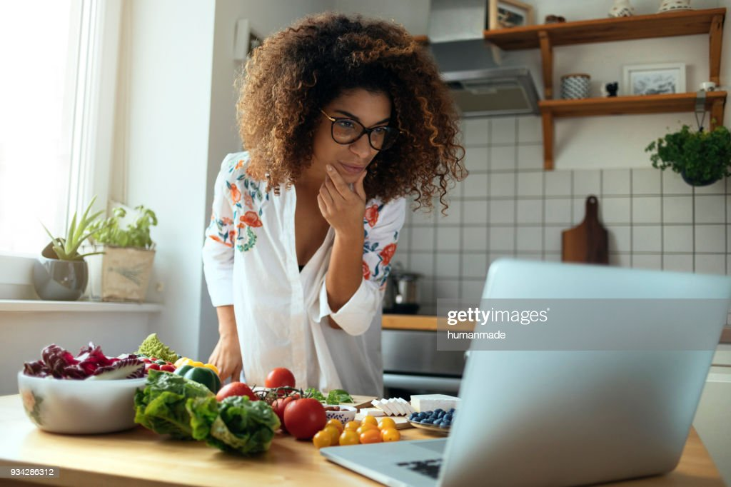 Exploring recipes : Stock Photo