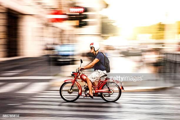 Exploring Rome on motorbike