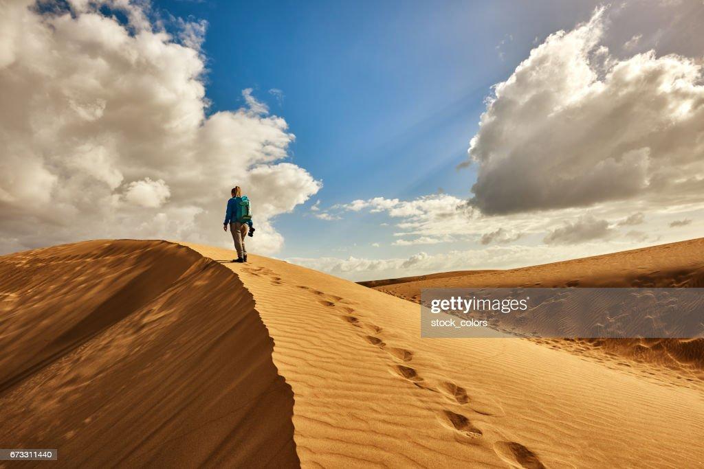 Explorar el desierto : Foto de stock