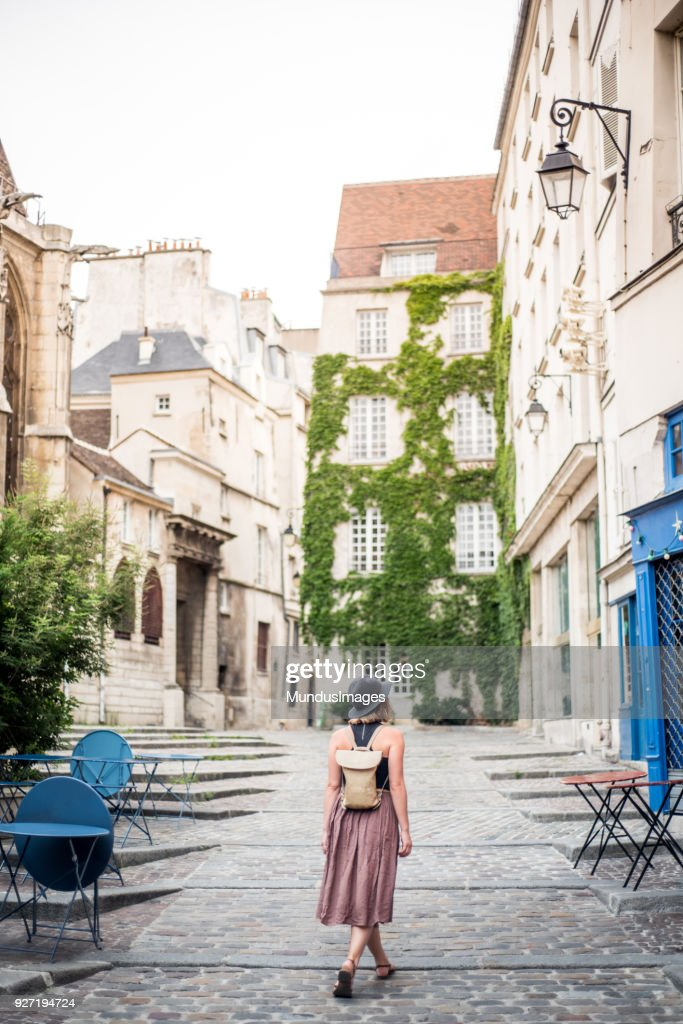 Exploring the empty streets of Paris France : Stock Photo