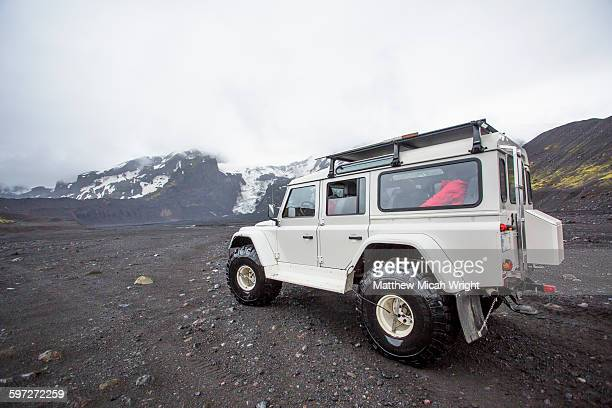 Exploring the Icelands glaciers by superjeep.