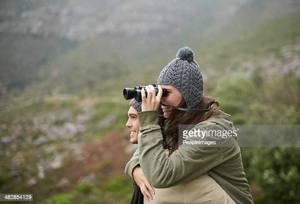 Exploring the mountainside together