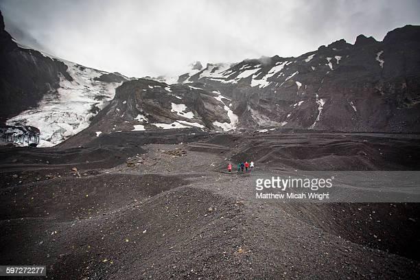 Exploring the Thorsmork Glaciers.