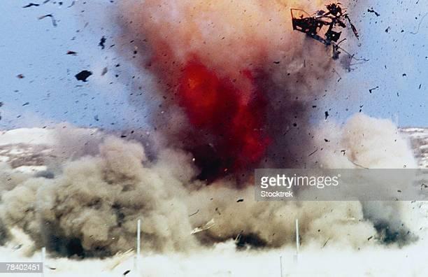 Explosion and debris