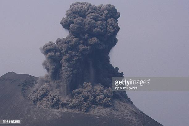 Explosion and pyroclastic flows at Krakatoa