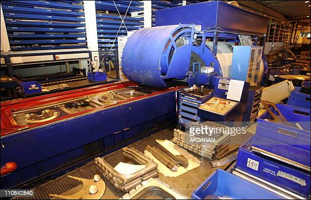 Explosion At Factory SaintEloi Of Airbus In Toulouse France On May 29 2006 It is the right part of the hydraulic press from 800 to 1000 bars for...
