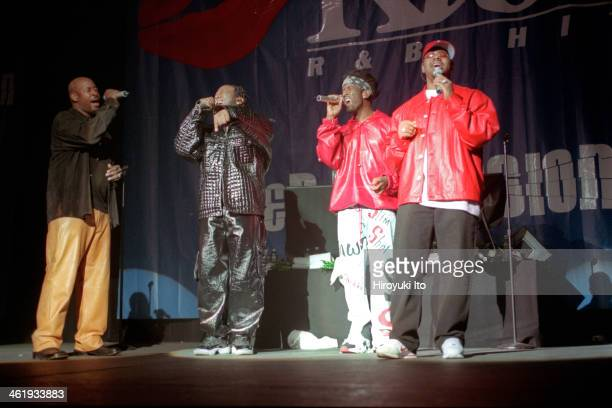 RB Explosion at the Theater at Madison Square Garden on Wednesday night March 28 2001This imageFrom left Michael McCary Wanya Morris Shawn Stolkman...
