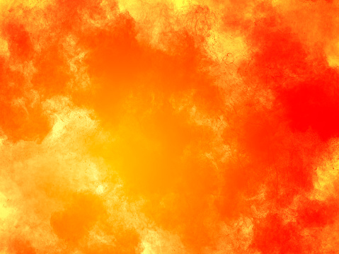 Explosion by an impact of a cloud of particles of powder and smoke of color red and yellow  background. - gettyimageskorea