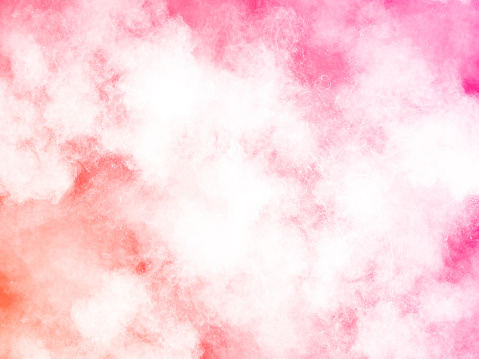 Explosion by an impact of a cloud of particles of powder and smoke of color white on a pink background. - gettyimageskorea