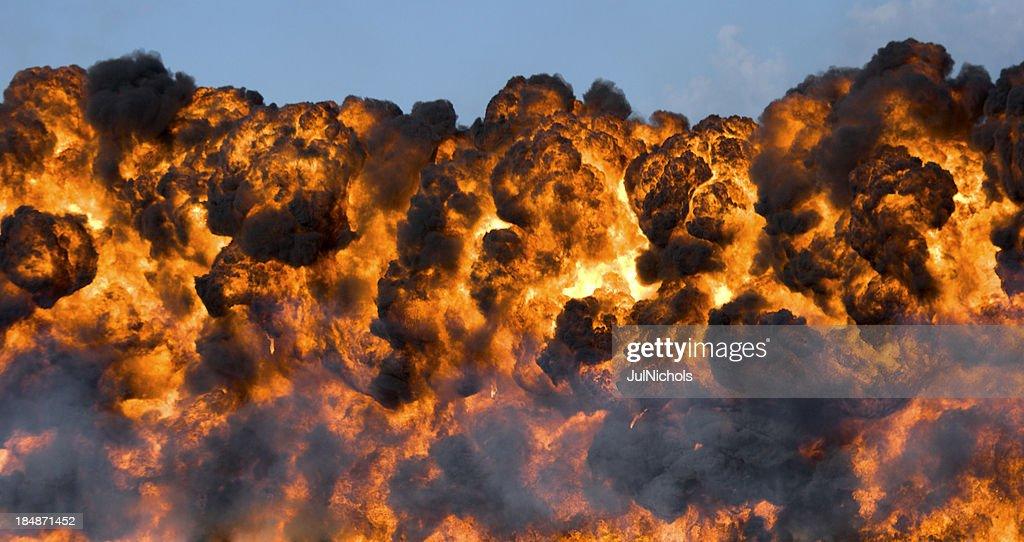 Explosion: Fireball and Smoke : Stock Photo