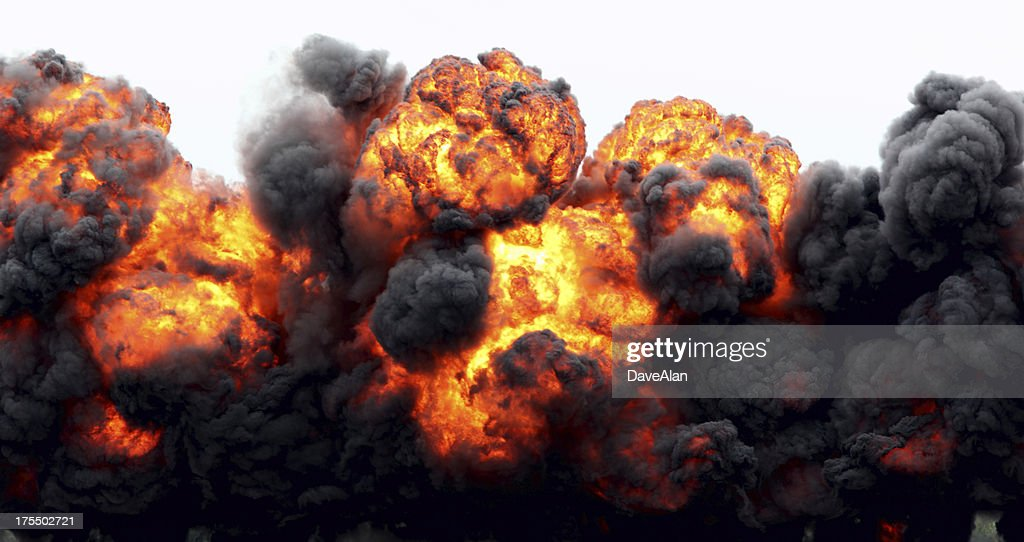 Explosion Fireball. : Stock Photo