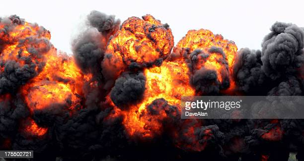 explosion fireball. - exploding stock pictures, royalty-free photos & images