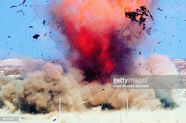 explosion in desert - war stock pictures, royalty-free photos & images