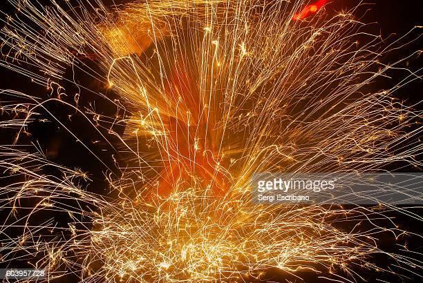 Explosion of a firecracker