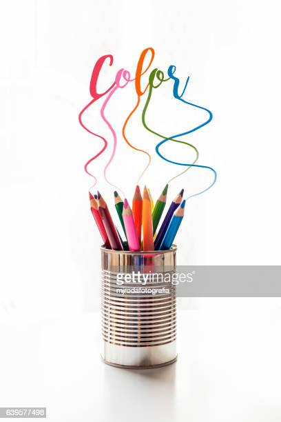 Explosion of color with crayons