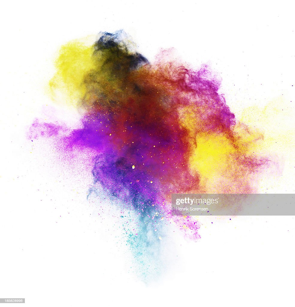 explosion of colored powder : Stock-Foto
