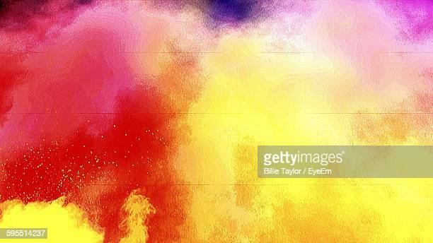 Explosion Of Colorful Powders