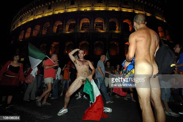 Explosion of joy in Rome as Italy win Football World Cup.Rome erupted in a damburst of joy, firecrackers, flags and tearful embraces as Italians...