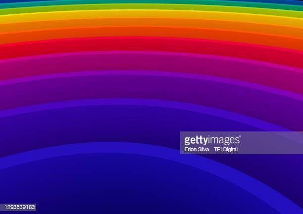explosion of layered rainbow colors for the pride flag - ゲイプライドのシンボル ストックフォトと画像