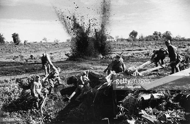 Explosion Russian Front WWII