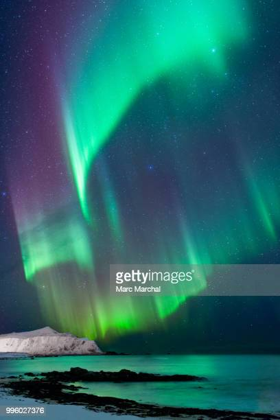 explosions in the sky - aurora borealis stock pictures, royalty-free photos & images