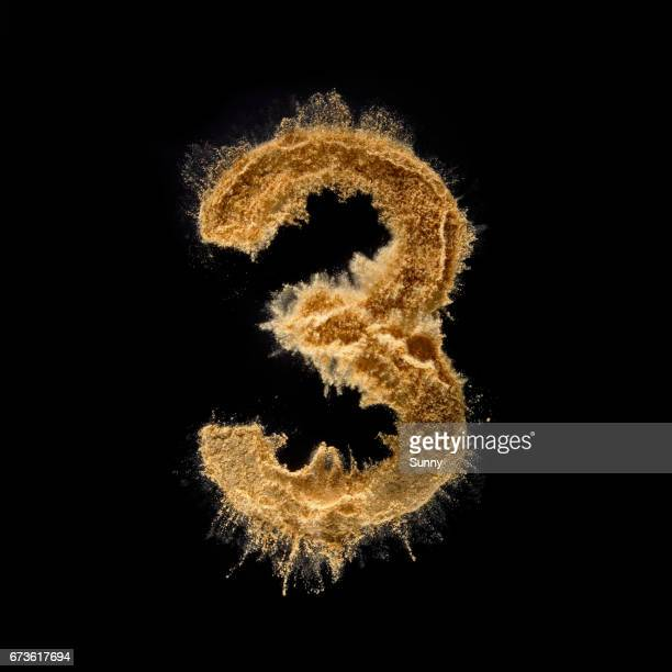 explosive alphabet - number 3 stock pictures, royalty-free photos & images