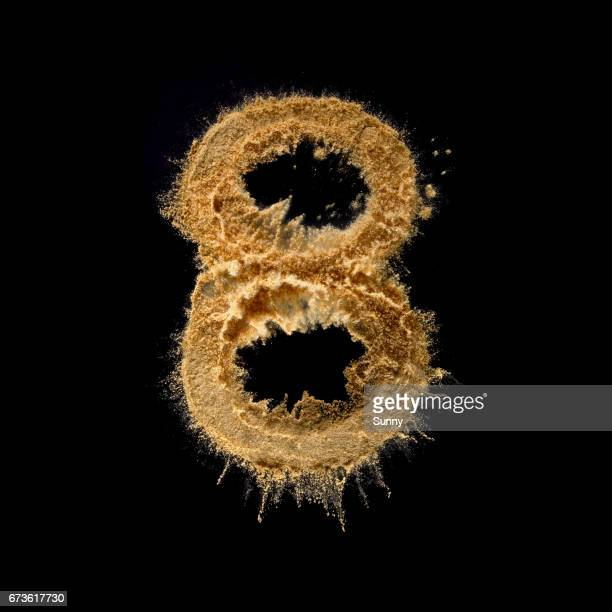 explosive alphabet - number 8 stock pictures, royalty-free photos & images