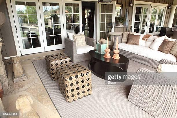 DECORATOR 'Explosive Reveals' Episode 205 Pictured Outdoor living room after renovation