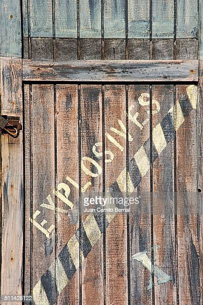 Explosives inside wooden crates