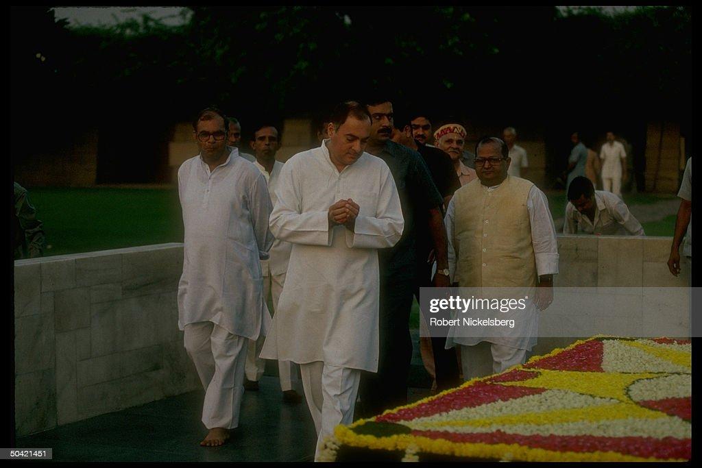 Rajiv Gandhi;Mohandas K. Gandhi [Death] : News Photo