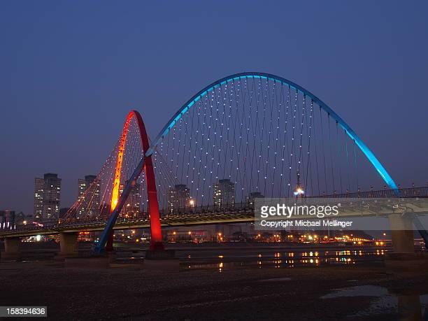Expo Bridge-Night-Daejeon-South Korea