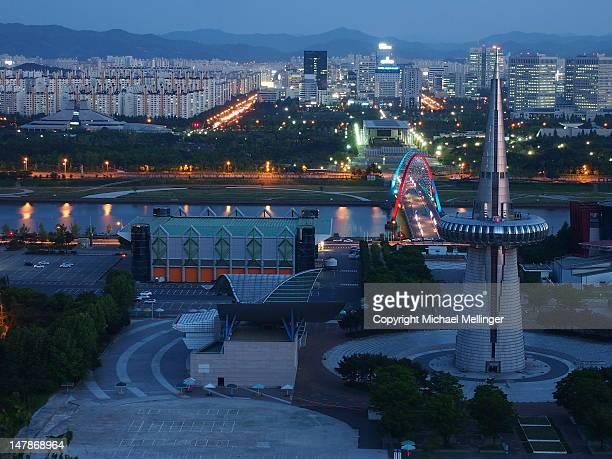 expo park - daejeon stockfoto's en -beelden