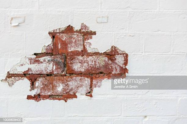 exposed brick - run down stock pictures, royalty-free photos & images