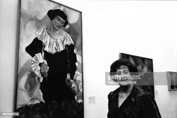 Exposition de la dation Marc Chagall en présence de la fille du peintre Ida Meyer le 29 mars 1988 au Centre Pompidou à Paris France