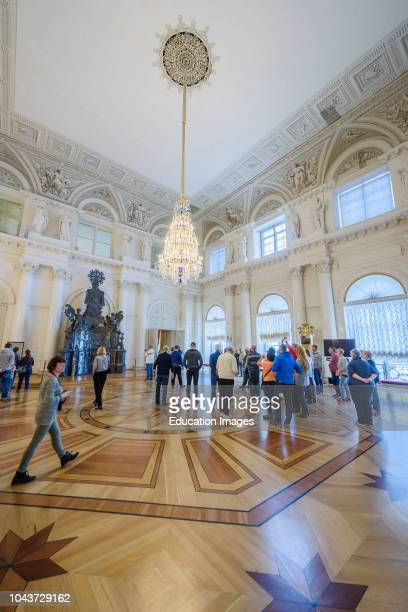 Exposition in the interior of the Hermitage Winter Palace, St Petersburg, Russia.