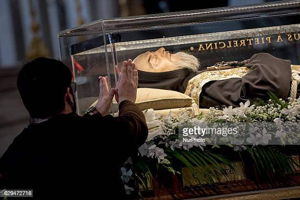 Exposition of the relics of Padre Pio and St Leopold Mandic in the Vatican Basilica for the Jubilee for Prayer Groups of Padre Pio Jubilee for Prayer...