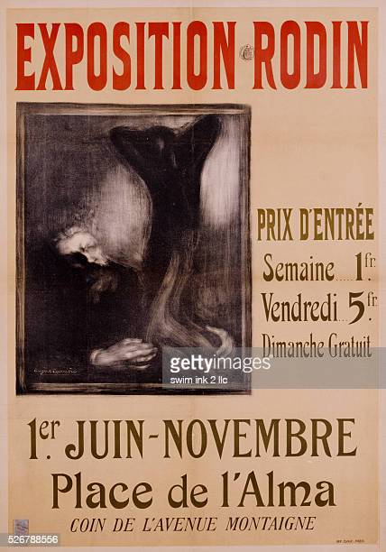 Exposition Rodin Poster by Eugene Carriere