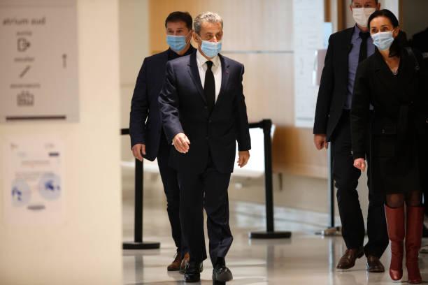 FRA: Ex-president Nicolas Sarkozy At Court In Paris