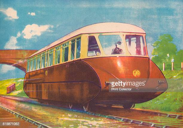 'Express Diesel Engine Rail Car GWR' 1940 From Trains of Today [Juvenile Productions Ltd London 1940] Artist Unknown