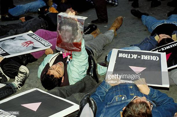 Expressions Of Act Up In Paris On October 28th 1992