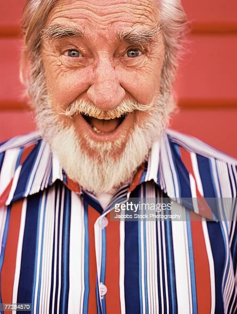 Expressive man with beard
