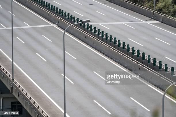 expressway viaduct - empty road stock pictures, royalty-free photos & images