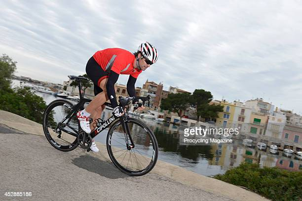 Ex-professional road race cyclist Marcel Wust tests a Cipollini RB1000 road bike during a shoot for Procycling Magazine, December 17, 2012.