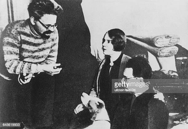 Expulsion and exile Leon Trotsky his wife Natalia Sedova and son Lev Sedov in Alma Ata Kazakhstan
