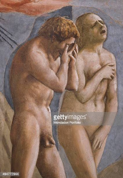 Expulsion from the Garden of Eden by Masaccio 14241425 15th Century fresco 260x88 cm Italy Tuscany Florence Church of Santa Maria del Carmine...