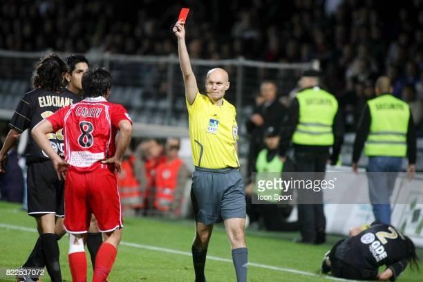 Expulsion Johan CAVALLI / Tony CHAPRON Nimes / Caen 15e journee Ligue 2