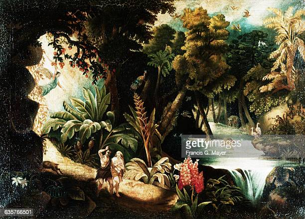 Expulsion of Adam and Eve from the Garden of Eden by an Unknown Mexican Artist