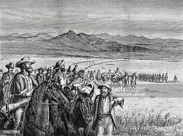 Expulsion of miners from the Black Hills, whose presence was in violation of the treaty which gave the Sioux Indians sole rights over the Hills...